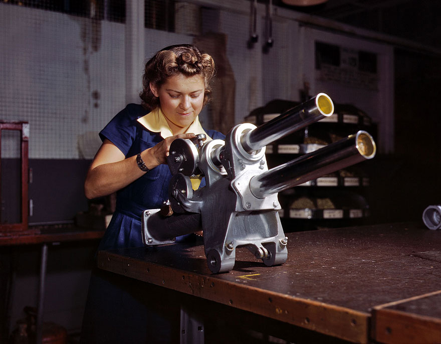 working women during world war ii During the war, the nation needed more airplanes, ships, trucks, and other military hardware, and had fewer men available to work in the factories to make them the federal government encouraged women to join the industrial workforce as a patriotic duty, and many women did take the highly skilled and better paying factory jobs usually held by men.