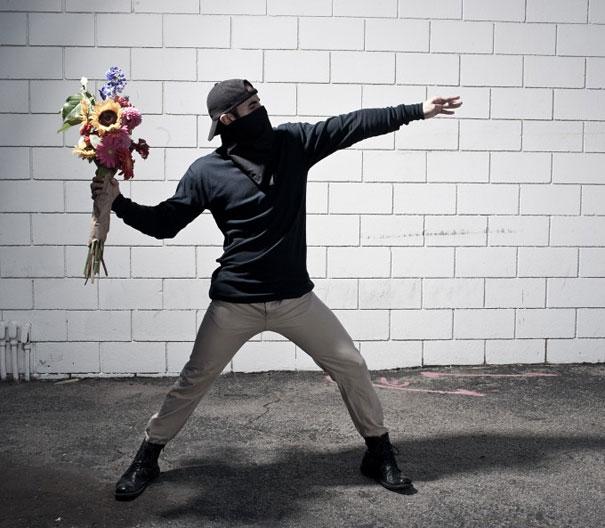 Banksy's Artwork Recreated in Real Life