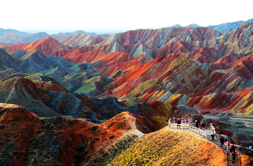 Incredibly Colorful Rock Formations in China
