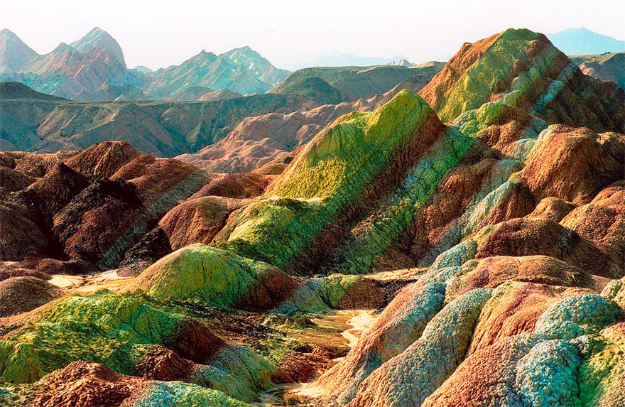 Incredibly Colorful Rock Formations In China  Bored Panda